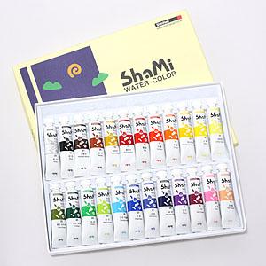 신한 샤미 수채그림물감 24색/수채화물감 24색