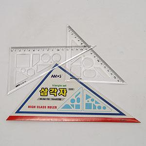 700 삼각자/학생용 삼각자세트 17cm/삼각자세트
