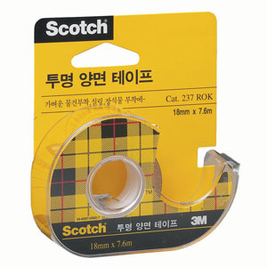 3M 스카치 투명양면테이프 237 18x7.6