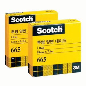 3M 스카치 투명양면테이프 665 12x6.35