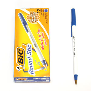 Bic 라운드스틱/Round Stic 볼펜(청색)1.0mm 12개입