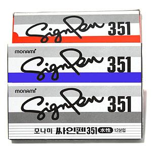 모나미 싸인펜 351(12자루)