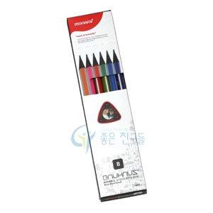 문화 바우하우스연필 12pcs/삼각지우개연필B/black wood B연필(12본입)