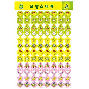 스티카/그림스티커/모양스티커 A(7장입)