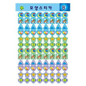 스티카/그림스티커/모양스티커 B(7장입)