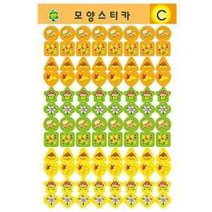 스티카/그림스티커/모양스티커 C(7장입)
