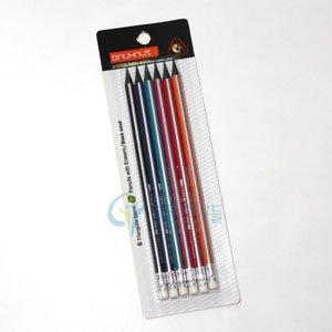 문화 바우하우스연필 6pcs/삼각지우개연필B/black wood B연필