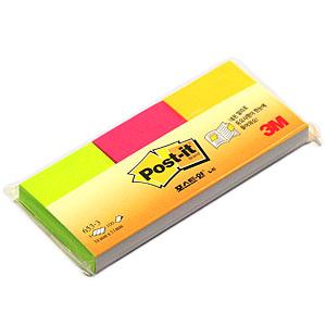 3M 포스트잇 653-3 형광 38x51 300매