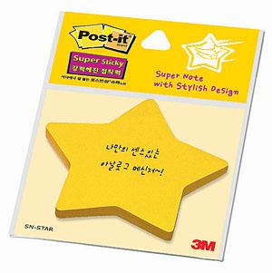 3M 포스트잇 SN-별/모양노트 45매