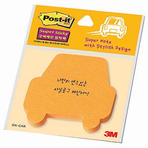 3M 포스트잇 SN-자동차/모양노트 45매