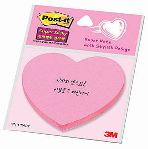 3M 포스트잇 SN-하트/모양노트 45매
