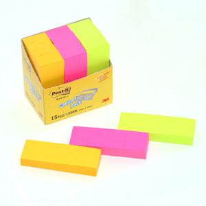 3M 포스트잇 캐비넷팩(613-15)25x76 100매x15패드