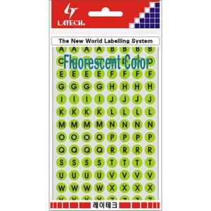 레이테크 레터링/칼라표제용 라벨/형광라벨/견출지 10-F403LG