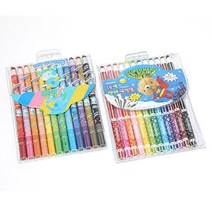 꼬마또래 종이말이색연필 12색/양파색연필 12색