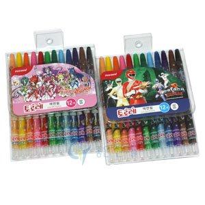모나미 돌돌이색연필 12색/12색 또로레슬라이더색연필