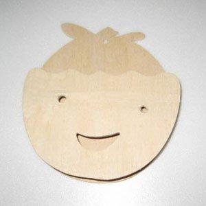 만들기재료/교육용교재/원목편지함(얼굴)