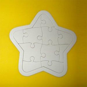 만들기재료/색칠놀이/그리기퍼즐/종이퍼즐(별)10개입