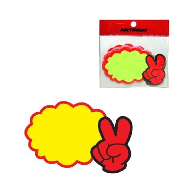 아트사인 POP/SHOW CARD/V자손 공백*7매/P1406