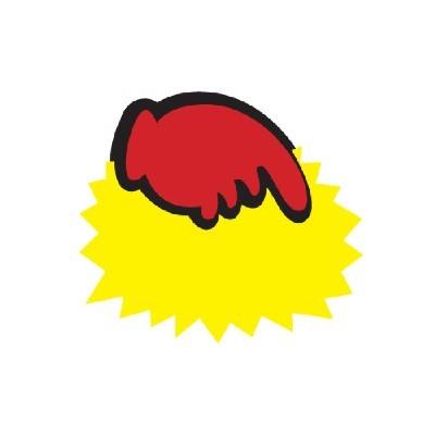 아트사인 POP/SHOW CARD/톱니손(공백)대*5매/P3006