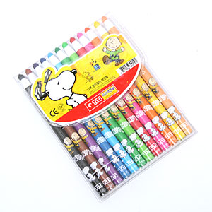 티티 종이말이색연필 12색