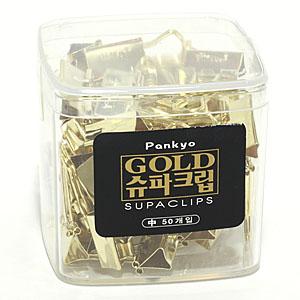 판교 골드 슈파클립/집게 중(50개입)24mm