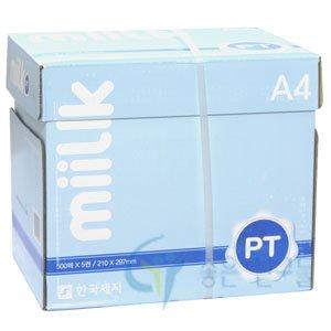 한국제지 90g 복사용지/밀크 90g A4 1박스(2500매)/복사지 무료배송