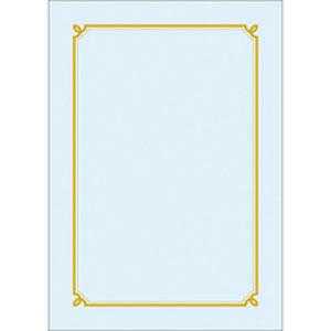 우진 테두리(선)상장/금박상장 G18(230g 청캔트지) 100매