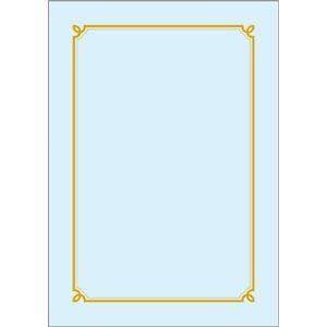 우진 칼라상장/금박상장 GB1(100매)