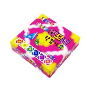 종이나라 만들기/종이접기/꽃나래하모니학접기색종이2(EC22K1)