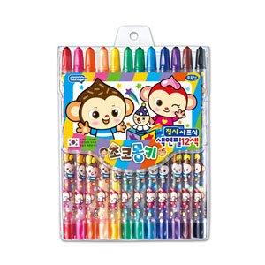 카파맥스 돌돌이색연필 12색/슬라이더색연필/무독성색연필12색