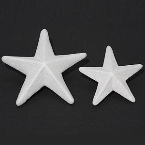 크리스마스트리/장식소품/스치로폼 별(14cm) 중(8개입)