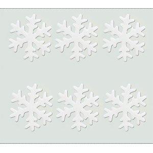 크리스마스트리/장식소품/젤눈꽃/눈결정체 70파이/젤설정-화이트(유리부착용)
