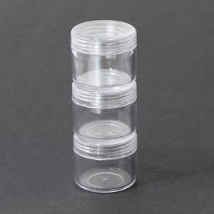 만들기재료/교육용교재/플라스틱통/비즈통 대(1개씩)3.5x5cm