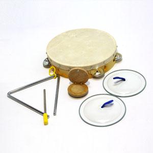 삼익악기/15000 리듬악기세트(탬버린/트라이앵글/캐스터네츠/심벌즈)