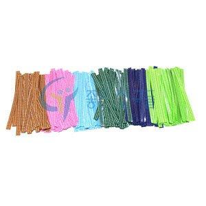 포장부자재용품/체크비닐타이/칼라타이/칼라포장끈/빵끈/철끈 12cm(약50개입)