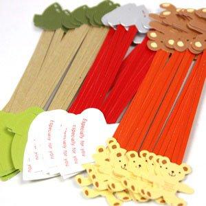 포장부자재용품/고급종이투타이/칼라타이/칼라포장끈/빵끈/철끈 17cm