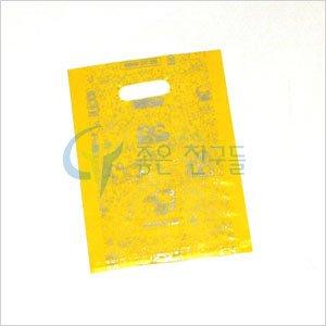 좋은친구들 비닐쇼핑백/링타입 비닐쇼핑백(15x22)100장-팬시봉투노랑