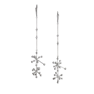 SecretStone Snow on the Branches Earring _White Sapphire