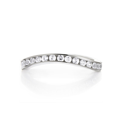 Wave_Princess 웨이브프린세스링 U_type 14k_WG white zircon