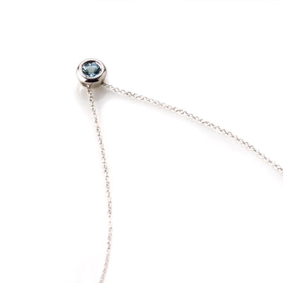 Hemisphere 헤미스피어 목걸이 (소) 14k_WG aquamarine