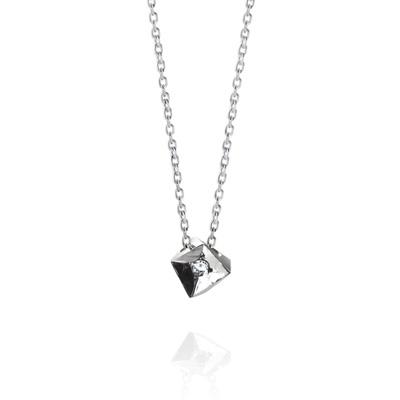 Crystalloid III 결정III 목걸이 (소) 14k_WG white diamond