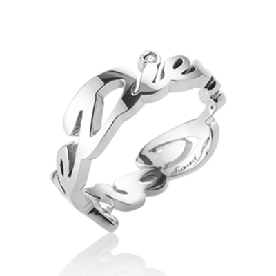 Carpediem II 까르페디엠 Logo 반지 (여성용) 14k_WG diamond