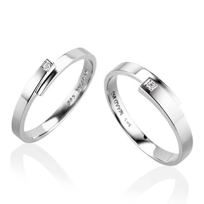 Covering 커버링 커플링 MG (중+소) 14k_WG white diamond