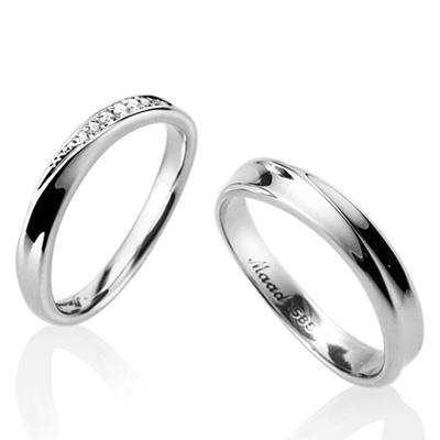 Infinity II 인피니티 II 커플링 (소+소slim) 14k_WG white zircon & flat
