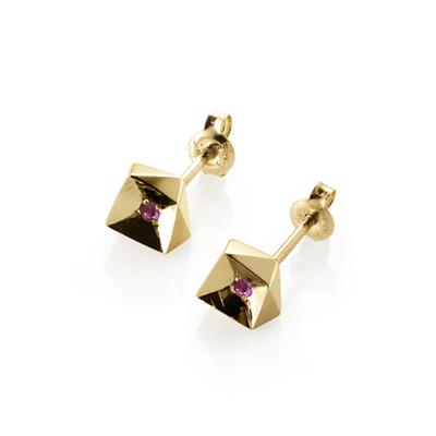 Crystalloid III 결정III 귀걸이 (소) 14k pink sapphire