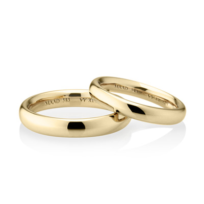 MR_Band XI MR-XI 오벌밴드_Raised 커플링 (중_3.8mm+소_3.2mm) 14k
