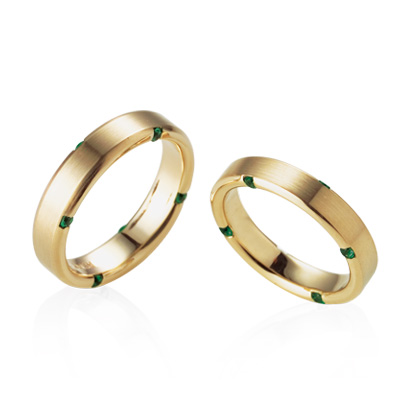 Guidance 가이던스반지 커플링 (대+소) 18k Emerald