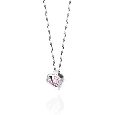 Ice heart 아이스하트 목걸이 pink zircon