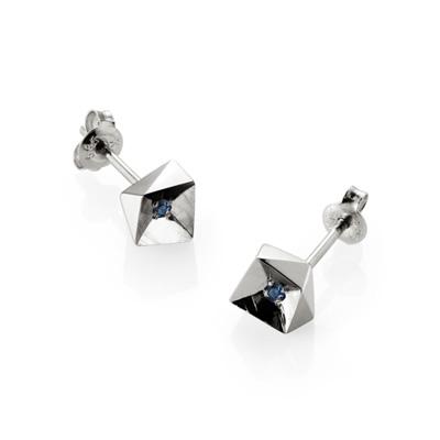 Crystalloid III 결정III 귀걸이 (소) blue zircon
