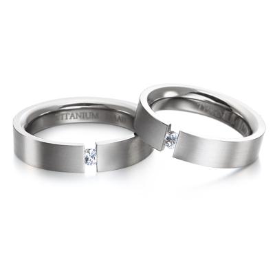 TitaniumGold 게르만헤로스 텐션밴드 티타늄 커플링 (5mm)_Titanium & Cubic zirconia